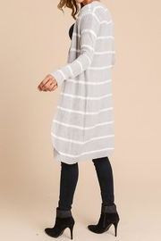 Wild Lilies Jewelry  Ribbed Striped Cardigan - Side cropped