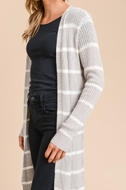 Wild Lilies Jewelry  Ribbed Striped Cardigan - Front full body