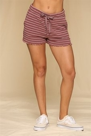 By Together  Ribbed, striped, highwaisted lounge shorts - Product Mini Image