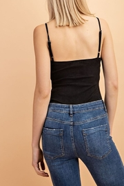 Le Lis Ribbed Suede Bodysuit - Front full body