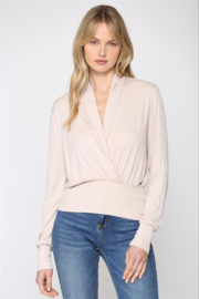 Fate Ribbed Surplice Top - Product Mini Image