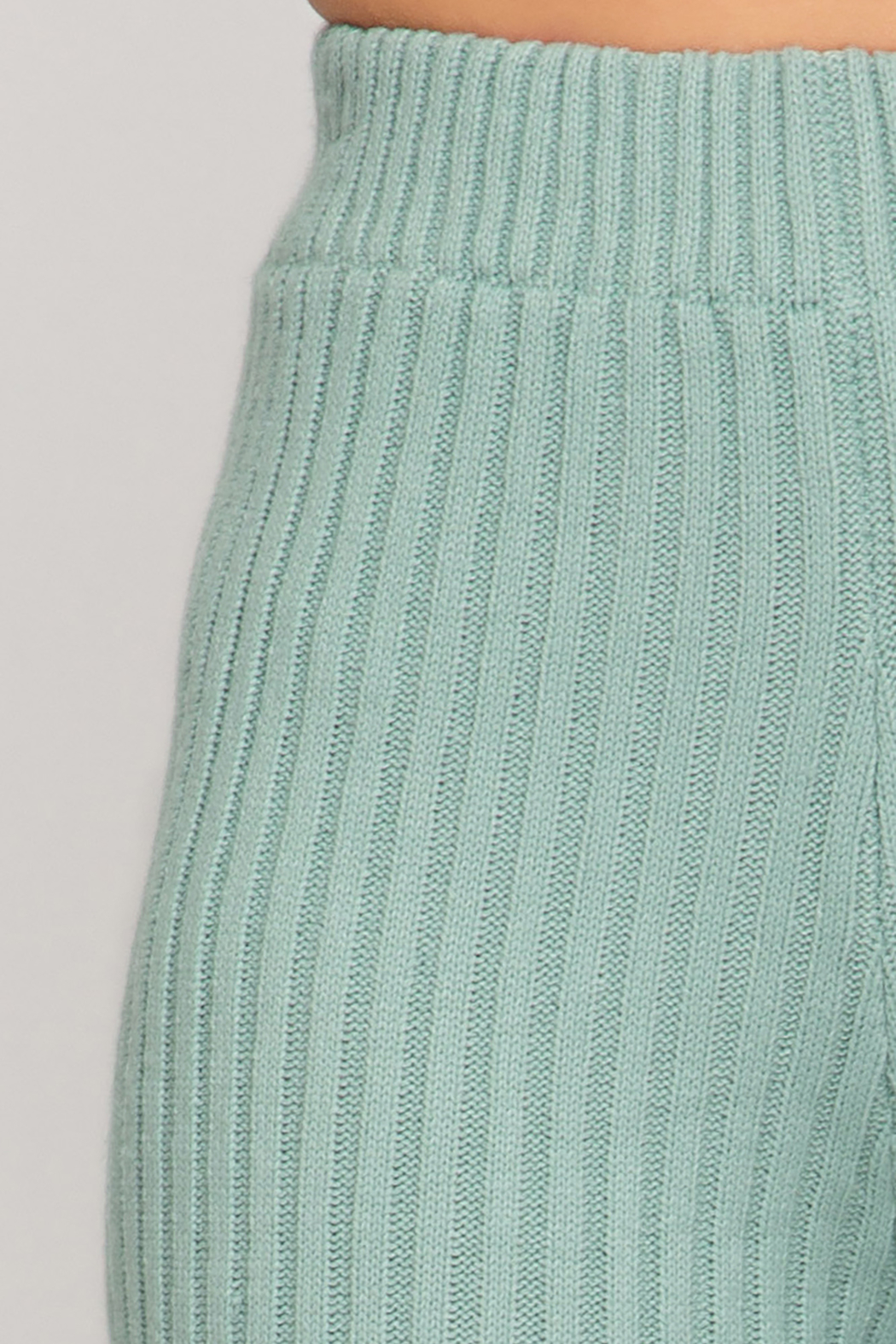 She and Sky Ribbed Sweater 7/8 Pants - Side Cropped Image