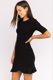 Le Lis Ribbed Sweater Dress - Front full body