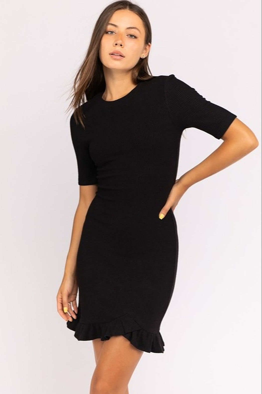 Le Lis Ribbed Sweater Dress - Main Image