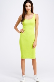 Hera Ribbed Tank Dress - Front cropped