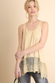 Umgee USA Ribbed Tank Lace-Top - Product Mini Image