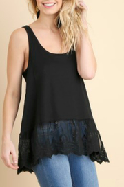 Umgee USA Ribbed Tank W/lace - Front cropped