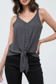 Blu Pepper Ribbed tank with tie - Product Mini Image