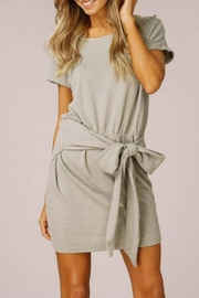 Listicle Ribbed Tie-Waist Dress - Product Mini Image