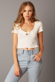 Cotton Candy LA Ribbed Top - Product Mini Image