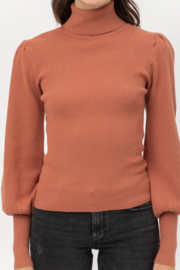 Love Tree  Ribbed Turtleneck Top - Product Mini Image