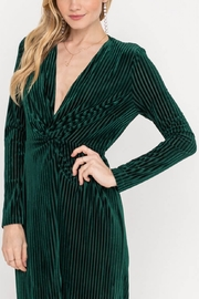 Lush  Ribbed Twist Dress - Side cropped