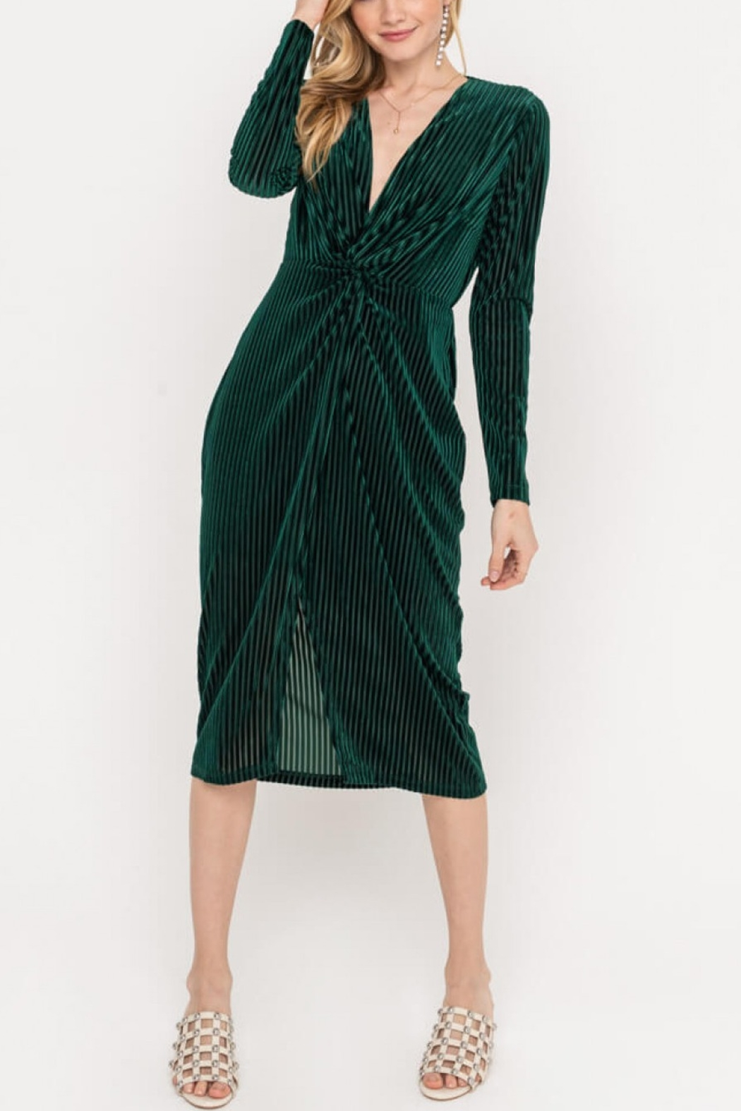 Lush  Ribbed Twist Dress - Main Image