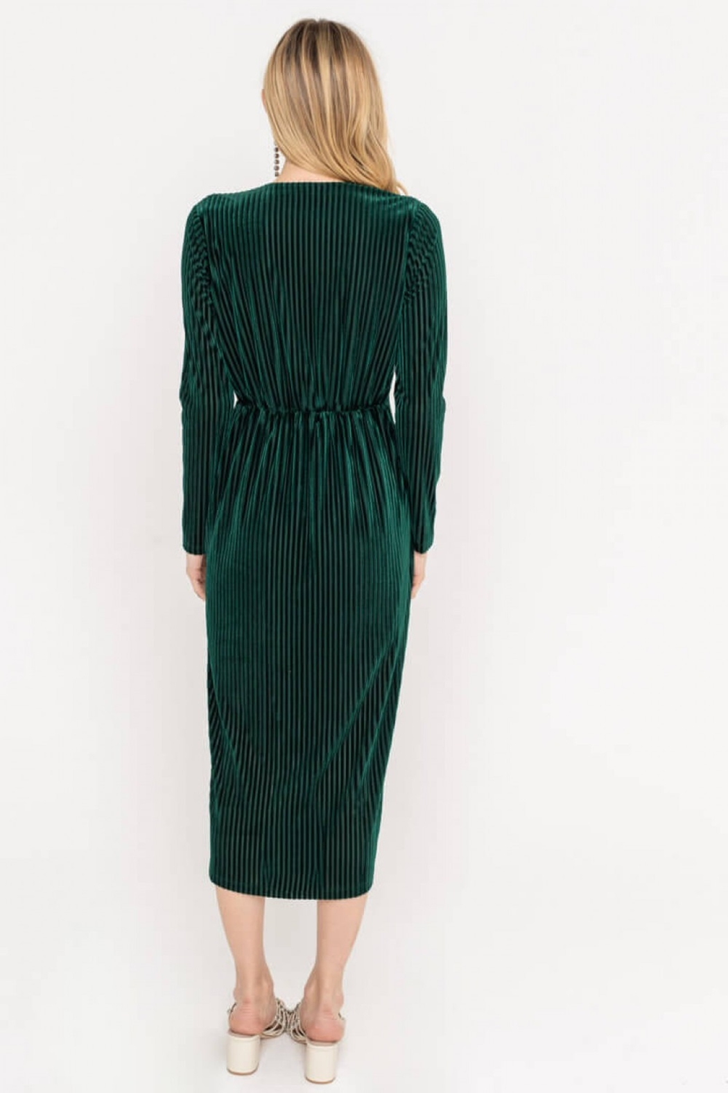 Lush  Ribbed Twist Dress - Front Full Image