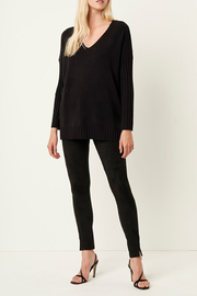 French Connection RIBBED V NECK SWEATER - Front full body