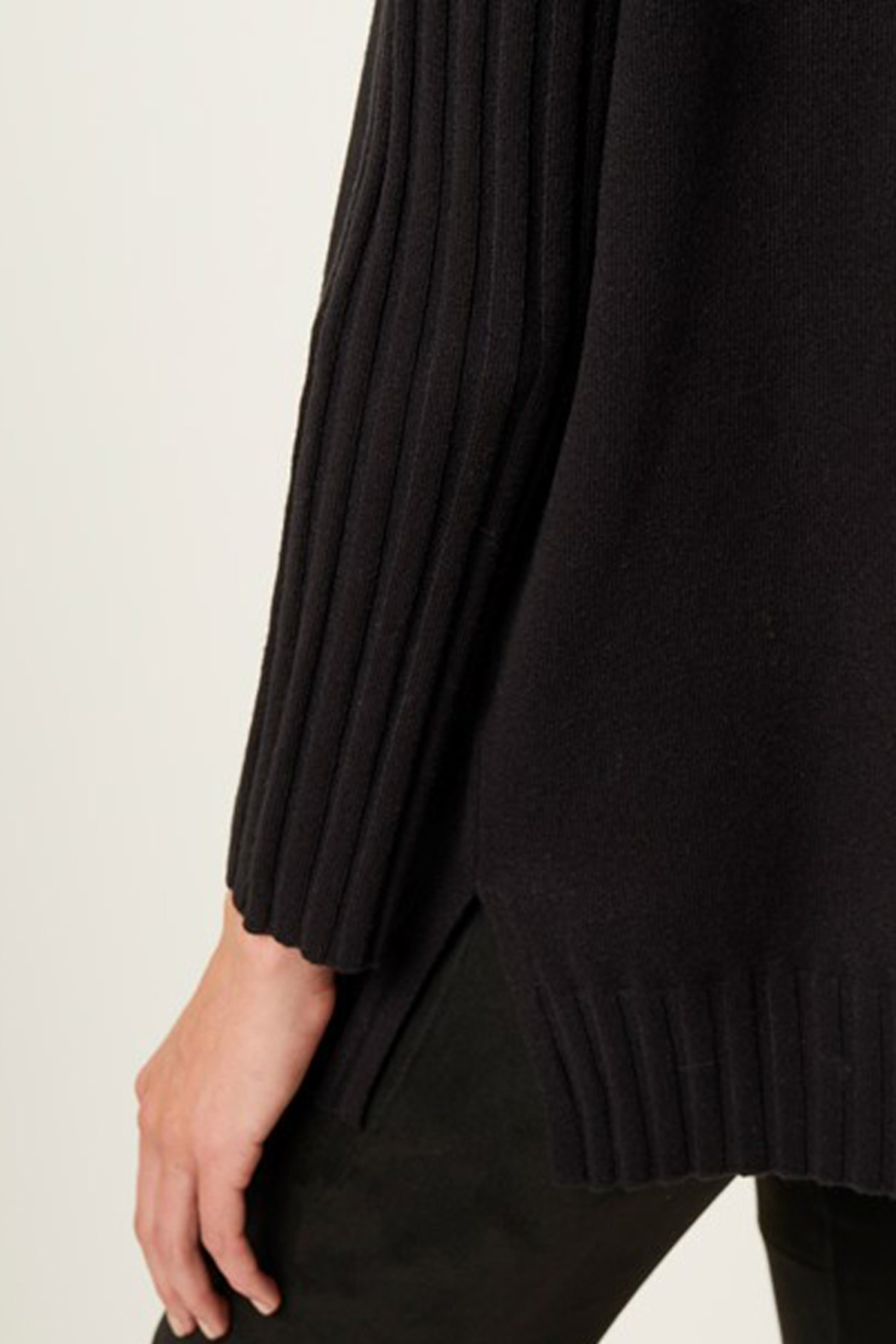 French Connection RIBBED V NECK SWEATER - Side Cropped Image