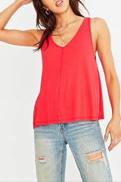 Project Social T Ribbed V Neck Swing Tank - Product List Image