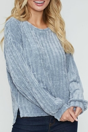Peach Love California Ribbed Velour Pullover - Product Mini Image