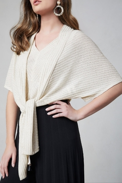 Shoptiques Product: Ribbed Wrap Bolero