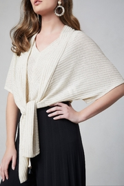 Frank Lyman Ribbed Wrap Bolero - Product Mini Image