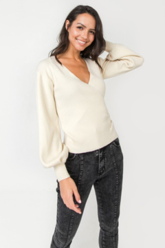 Shoptiques Product: Ribbed Wrap Sweater