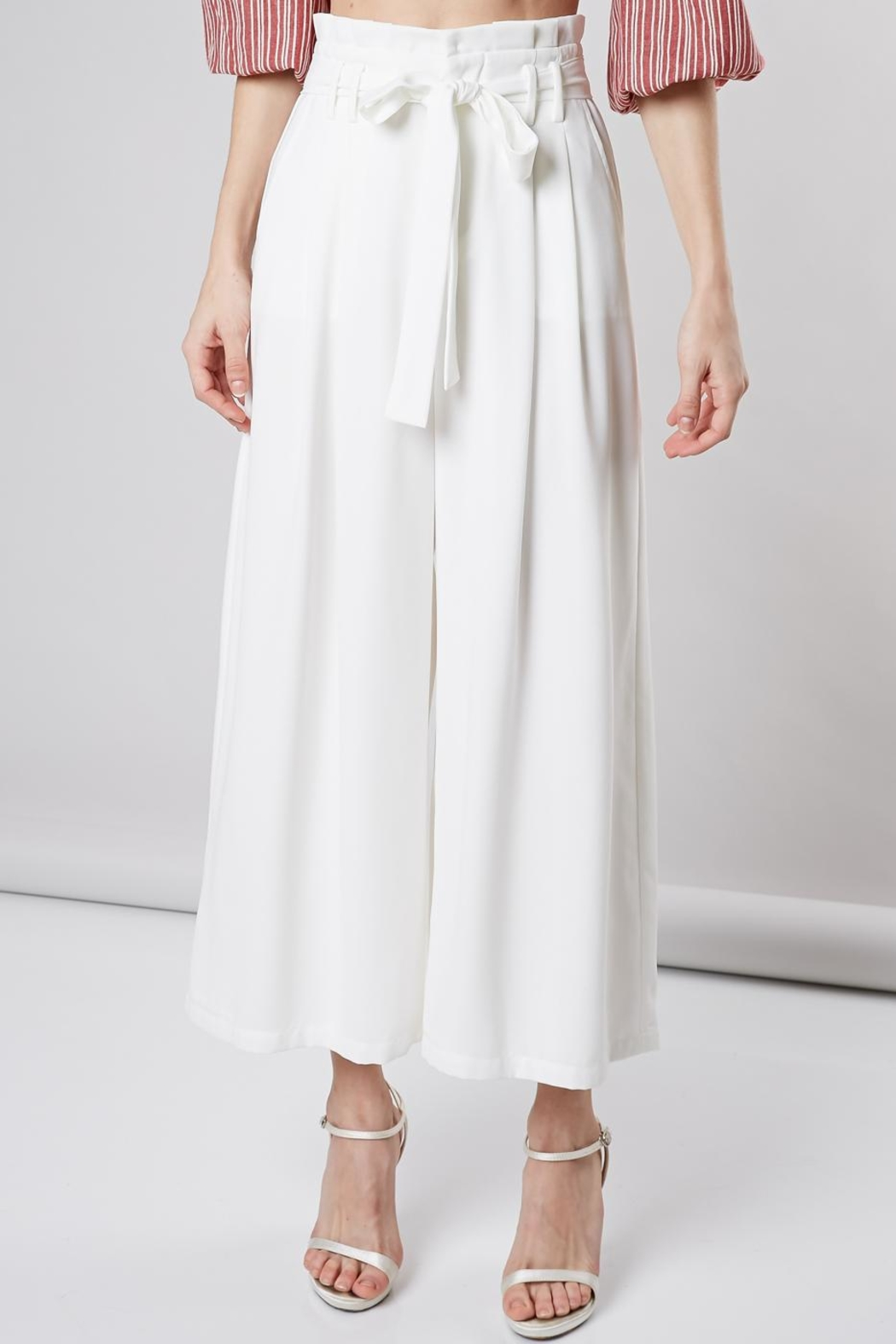 Do & Be Ribbon Belt Pants - Front Cropped Image