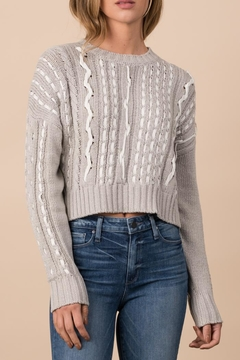 Shoptiques Product: Ribbon Cabled Pullover