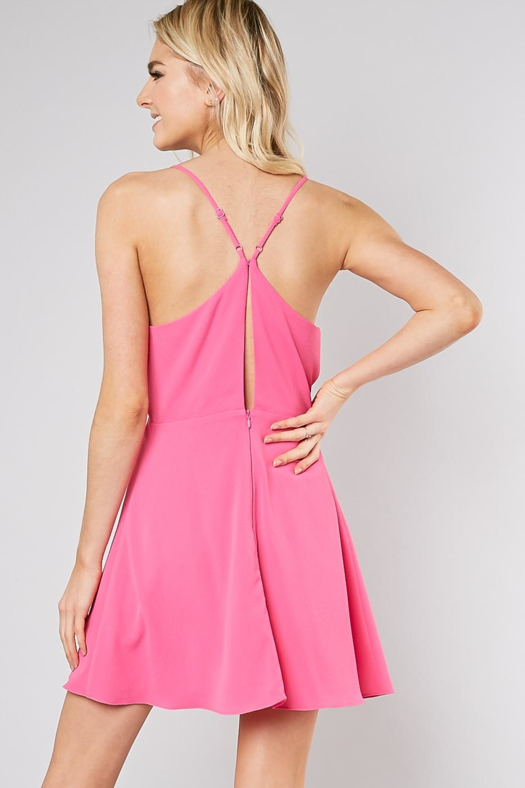 Do & Be Ribbon Front Dress - Side Cropped Image