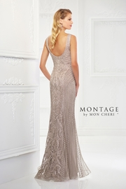 Montage Ribbon Lace Gown, Stone - Product Mini Image