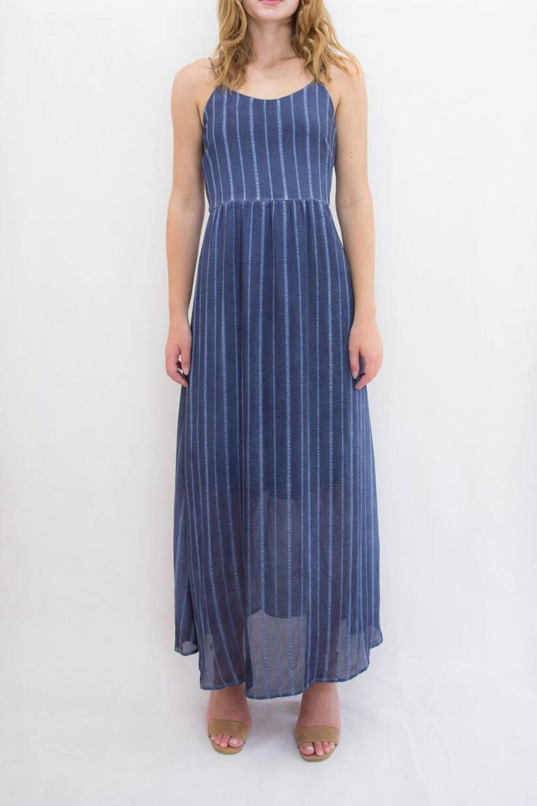 Mystree Ribbon Maxi Dress - Front Cropped Image