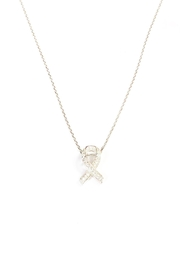 Lets Accessorize Ribbon Necklace - Front cropped