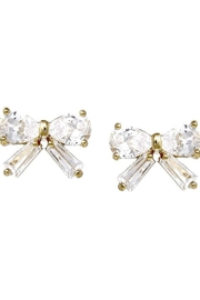 US Jewelry House Ribbon Stud Earrings - Front cropped