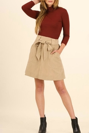 Umgee USA Ribbon-Tie A-Line Skirt - Product Mini Image