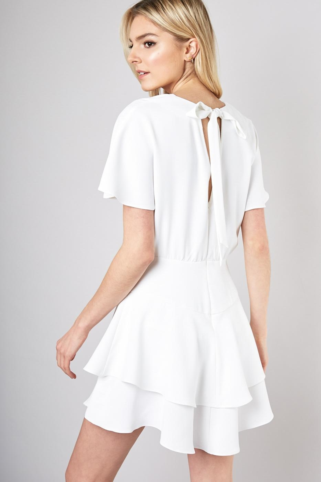 Do & Be Ribbon Tie Dress - Side Cropped Image