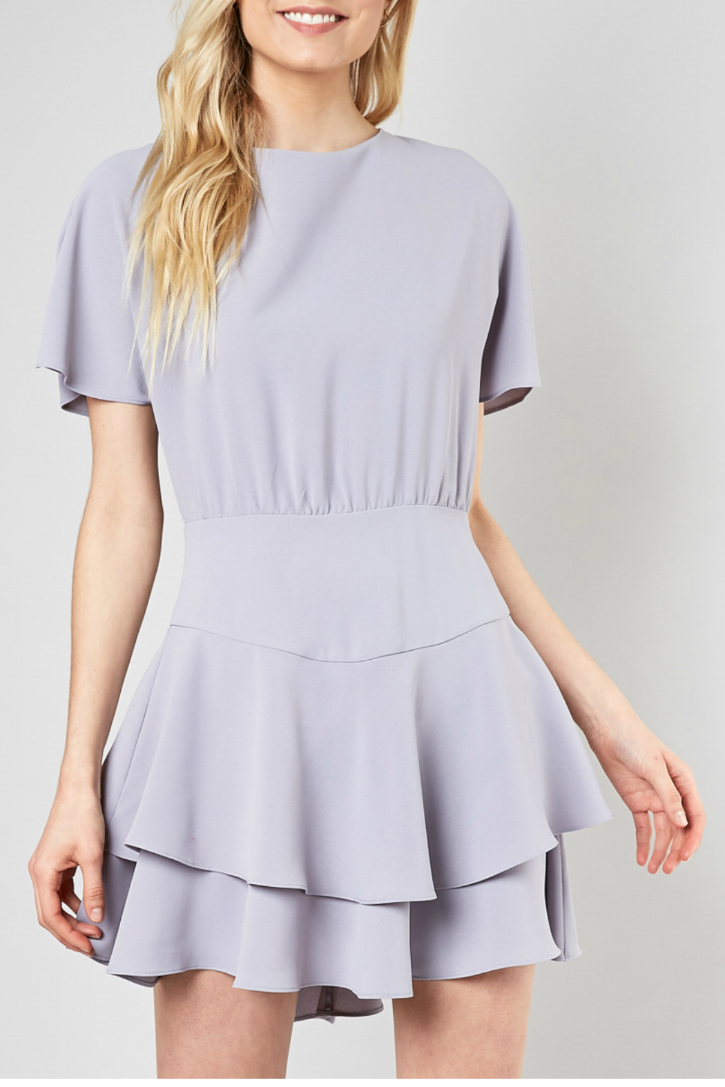 Do & Be Ribbon tie fit and flare dress - Front Full Image