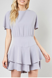 Do & Be Ribbon tie fit and flare dress - Front full body