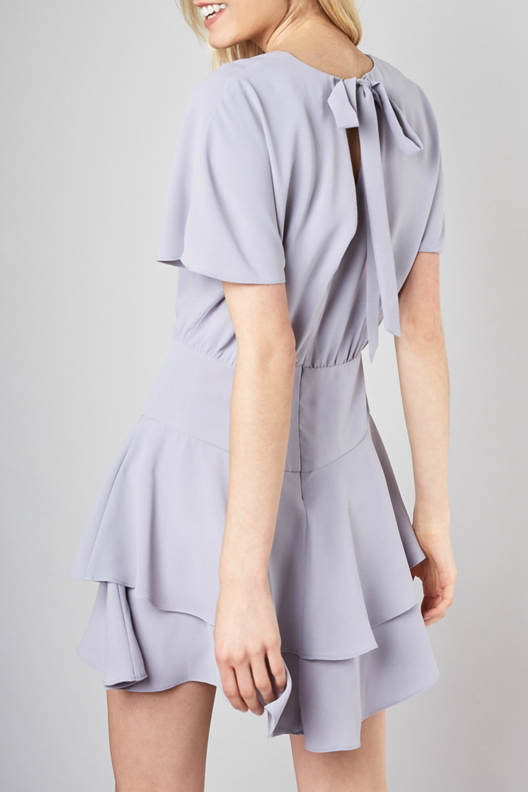 Do & Be Ribbon tie fit and flare dress - Main Image