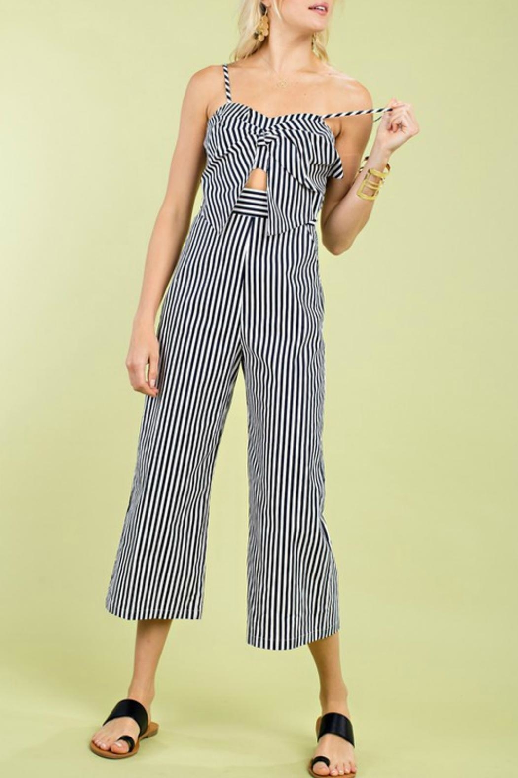 Pretty Little Things Ribbon Tie Jumpsuit - Main Image