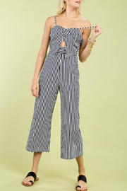 Pretty Little Things Ribbon Tie Jumpsuit - Product Mini Image