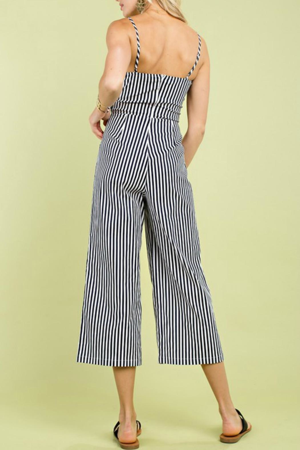 Pretty Little Things Ribbon Tie Jumpsuit - Front Full Image