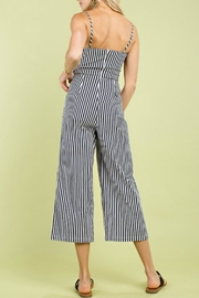 Pretty Little Things Ribbon Tie Jumpsuit - Front full body