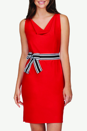 TRISTAN Ribbon Tie V Neck Dress - Product Mini Image