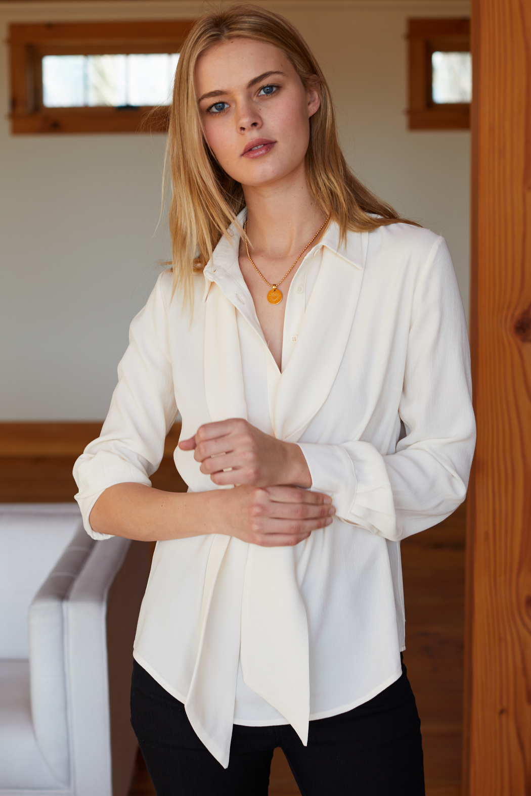 Emerson Fry RIBBONS NECK TIE BLOUSE - Main Image