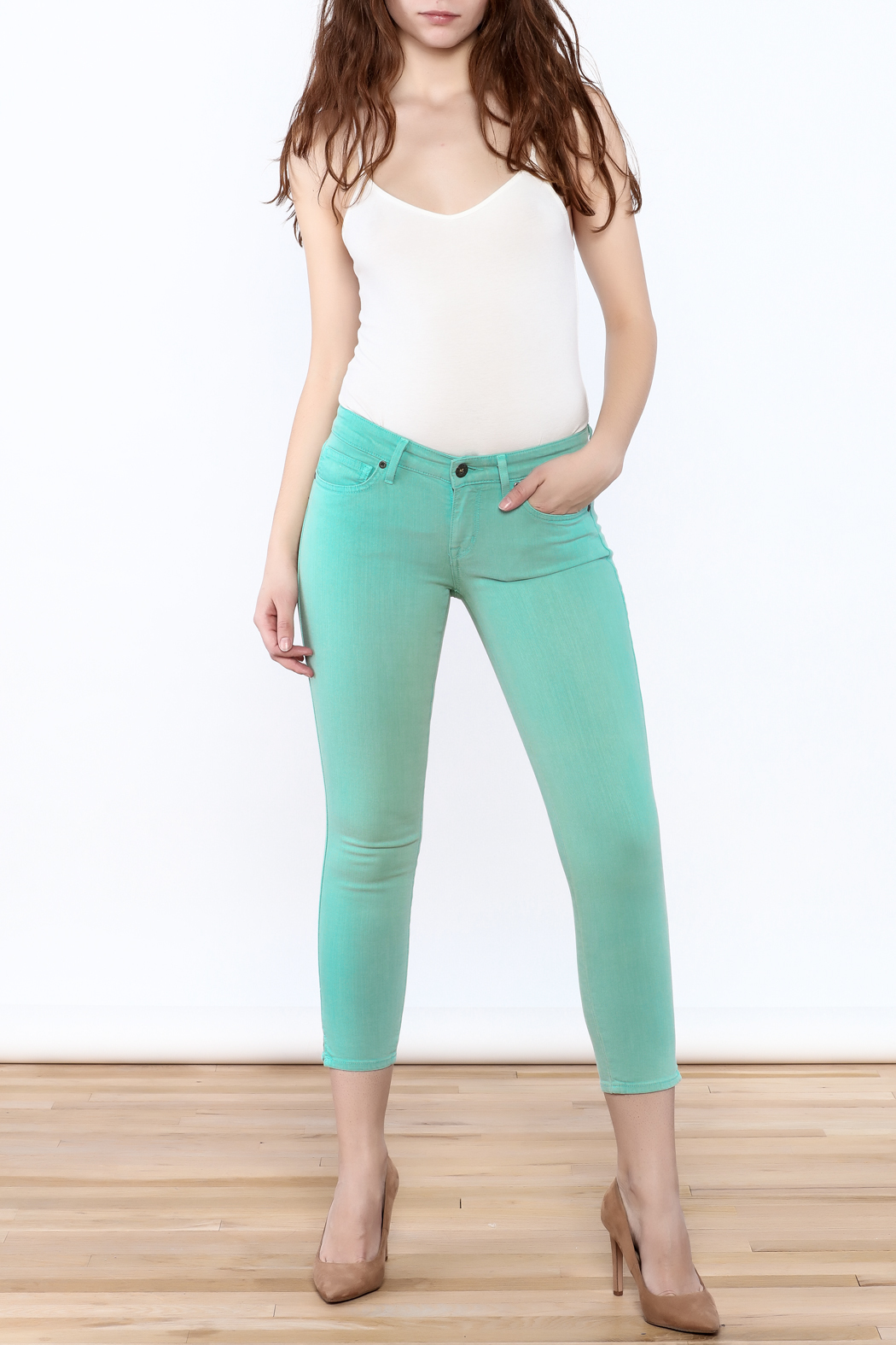 Rich & Skinny Coronado Cropped Jeans - Front Full Image