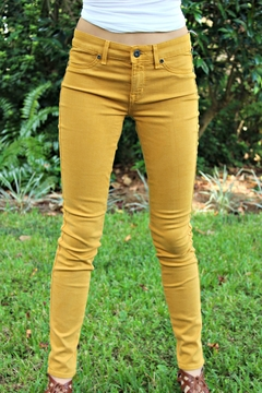 Shoptiques Product: Gold Rich&Skinny Jeggings
