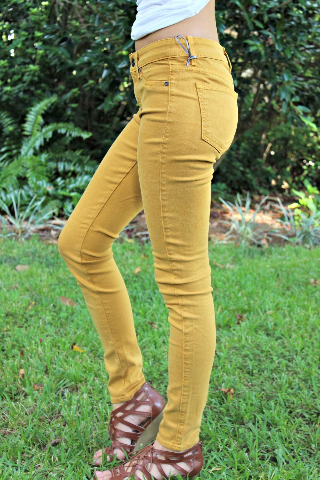 Rich & Skinny Gold Rich&Skinny Jeggings - Front Full Image