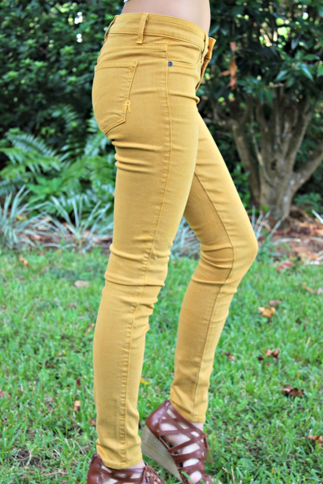 Rich & Skinny Gold Rich&Skinny Jeggings - Back Cropped Image