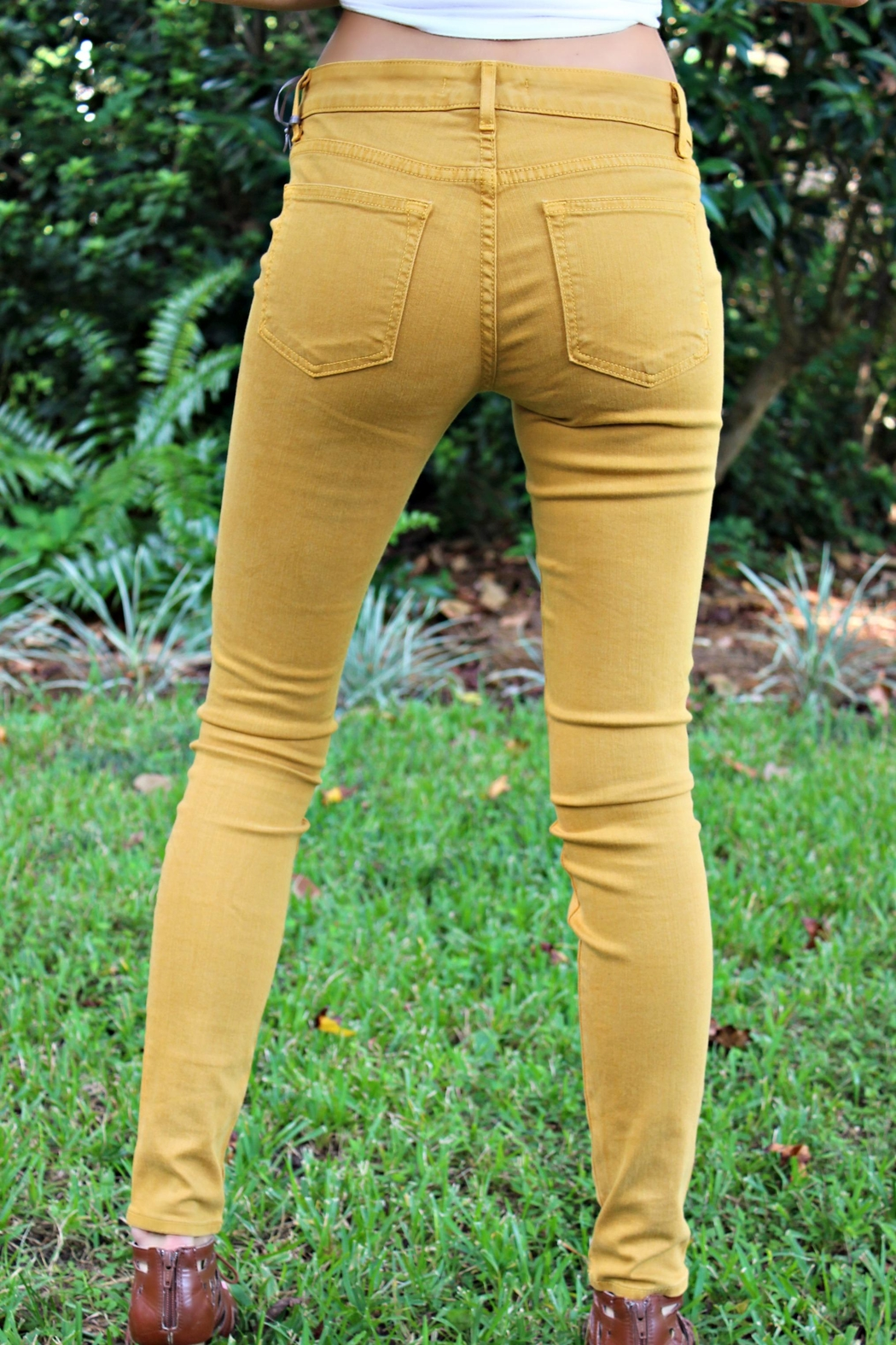 Rich & Skinny Gold Rich&Skinny Jeggings - Side Cropped Image
