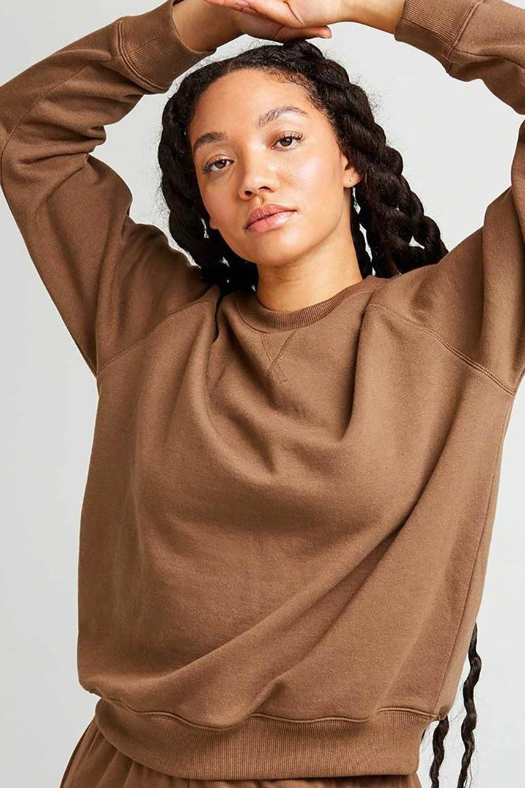 Richer Poorer Recycled Crew Sweatshirt - Front Cropped Image