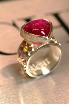 Shoptiques Product: Rubelite Flower Ring